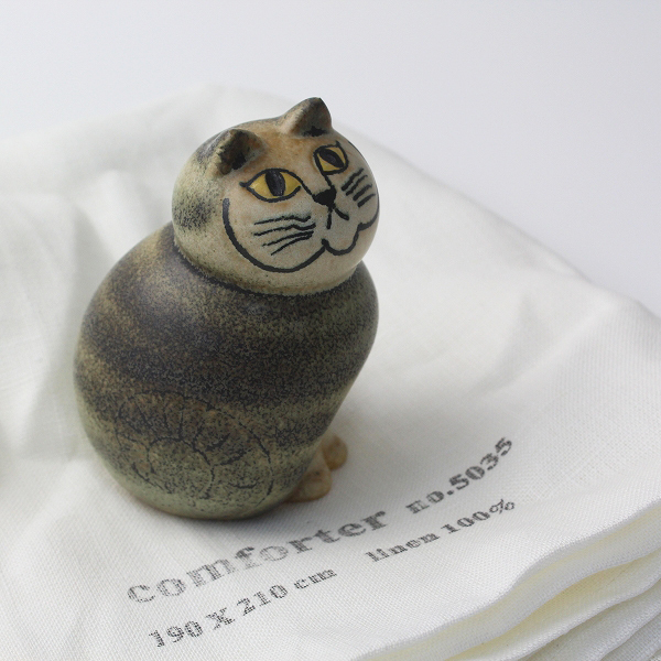 スウェーデン製 Lisa Larson リサラーソン キャット 陶器 オブジェ/猫 ねこ 【2400012508385】