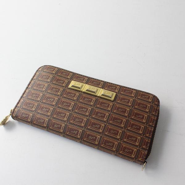 Q-pot. キューポット チョコレート 長財布/Bitter Chocolate ビターチョコ ブラウン ロングウォレット【2400012508415】