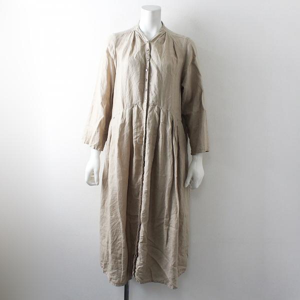 2019SS nest Robe ネストローブ リネンYネックドレス F/ベージュ ワンピース【2400012508453】