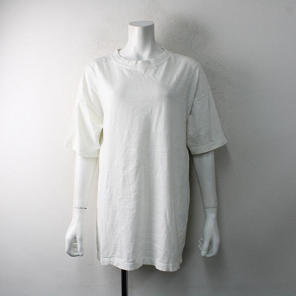 定価1.5万 2021SS Deuxieme Classe ドゥーズィエムクラス LOVE A PEACE バックプリントTシャツ F/ホワイト【2400012509030】