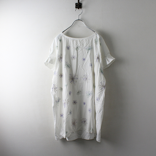 大きいサイズ sab street サブストリート フラワー刺繍トップス 15号/ホワイト Tシャツ カットソー【2400012509351】