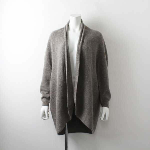 Knit Okazaki ニットオカザキ ウールシルク ニット カーディガン M-L /ベージュ 羽織り【2400012510791】