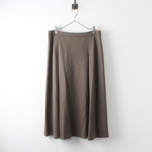 大きいサイズ INDIVI インディヴィ ジェームスミルドジャージスカート 15/ブラウン ボトムス【2400012511392】