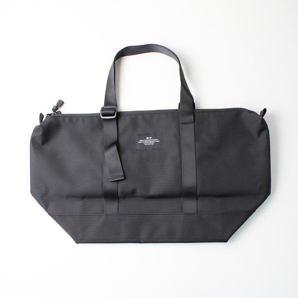 極美品 BIP BAGS IN PROGRESS バッグインプログレス ZIPPER TOTE ナイロントートバッグ/ブラック クロ【2400012514256】