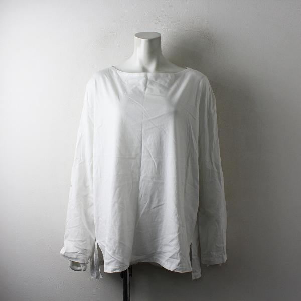 2021SS VERMEIL par iena イエナ オーガニックコットン天竺 ボートネックTシャツ F/ホワイト カットソー【2400012514874】-.