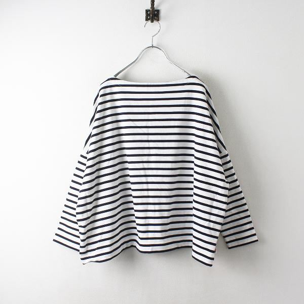Traditional Weatherwear トラディショナルウェザーウェア BMB SHIRT LONG ビッグマリンボートネックTシャツ S/ホワイト【2400012514881】