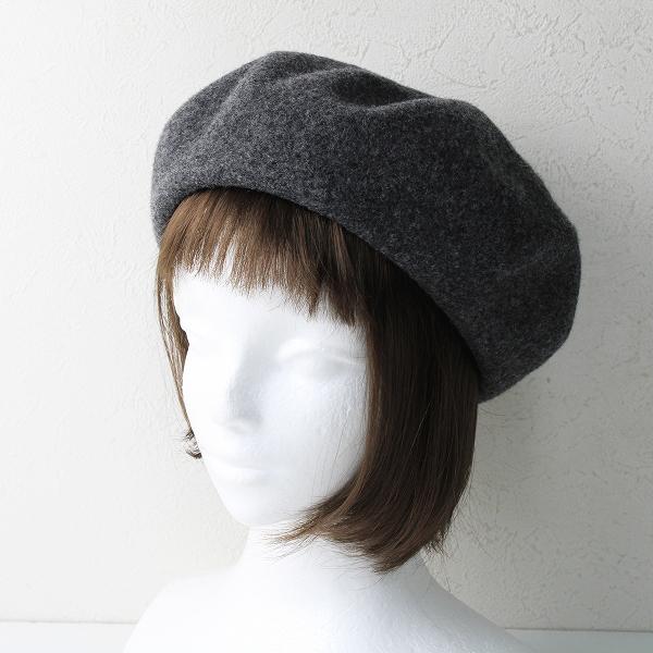 定番人気アイテム CA4LA カシラ DANNY プレスウール ベレー帽 /グレー 圧縮 縮絨【2400012515406】