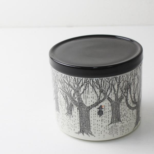 ARABIA アラビア MOOMIN Jar TRUE TO ITS ORIGINS ムーミン ジャー 0.7L/ブラック 蓋付き 瓶 陶器【2400012516342】