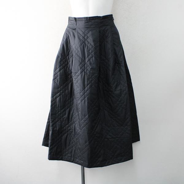 美品 2019AW 定価2.8万 Lois CRAYON ロイスクレヨン キルティング スカート M/ブラック ボトムス【2400012521537】