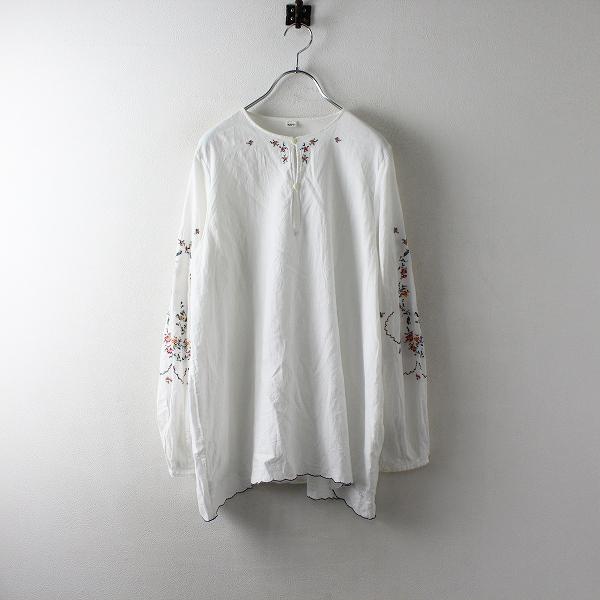 定価7万 45R フォーティファイブアール カディフラワー刺繍ブラウス 3/ホワイト 45rpm【2400012522732】