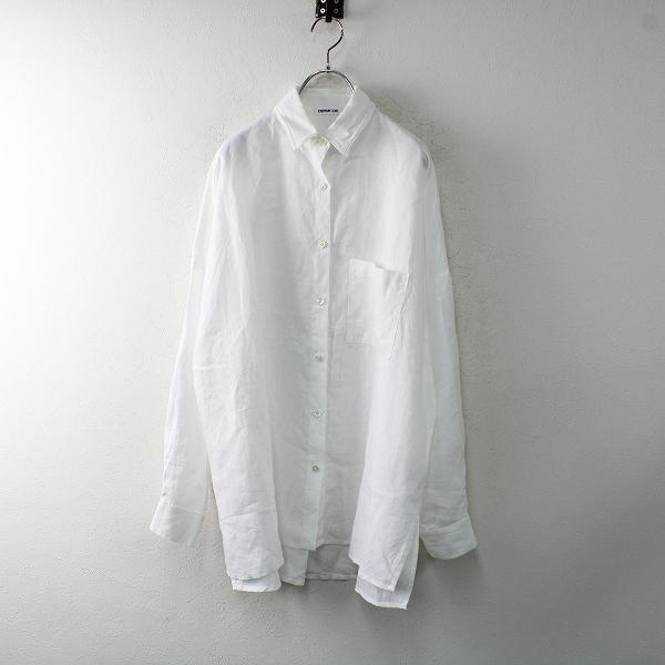 2021SS 定価2.4万 Deuxieme Classe ドゥーズィエムクラス EVERYDAY I LIKE. ワイドシャツ (Linen) /ホワイト【2400012525269】-.