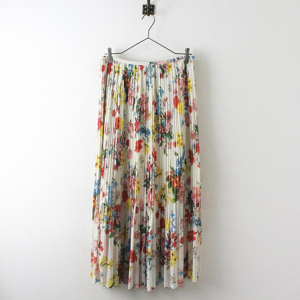 定価2.4万 Lois CRAYON ロイスクレヨン ブーケプリント スカート M/ホワイト ボトムス【2400012525931】