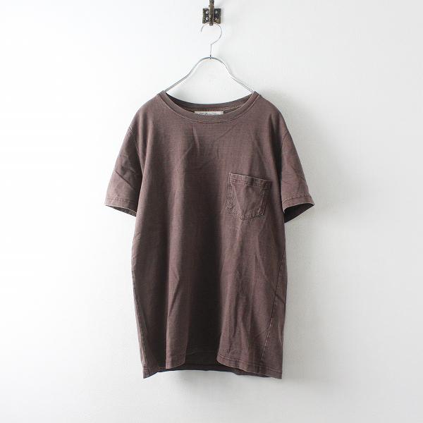 REMI RELIEF レミレリーフ コットン ポケットTシャツ L/ブラウン カットソー メンズ【2400012527515】