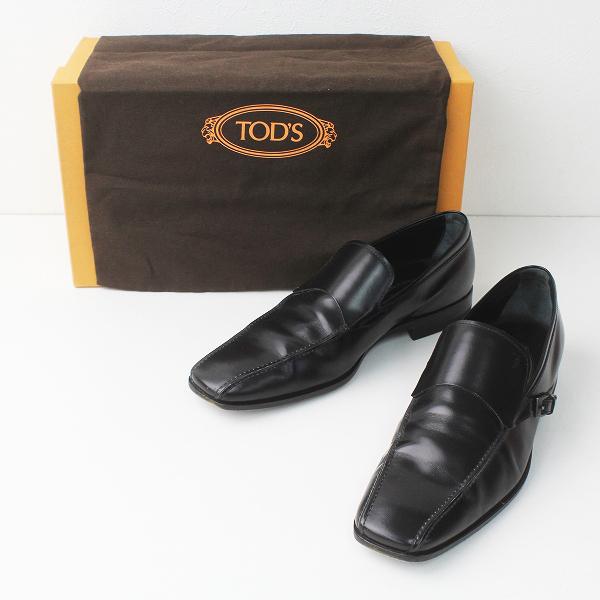 TOD'S トッズ レザー ローファー 7/メンズ ブラック シューズ 靴 黒【2400020076371】