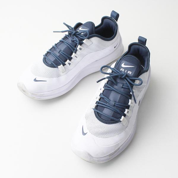 NIKE ナイキ AIR A2146-105 アクシス スニーカー 25.5/ホワイト×ネイビー メンズ 靴 くつ【2400020076944】