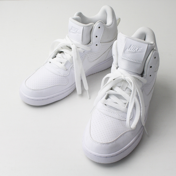 NIKE ナイキ 844885-111 コート バーロウ ミッド スニーカー 26/ホワイト メンズ ハイカット 靴 くつ【2400020076968】