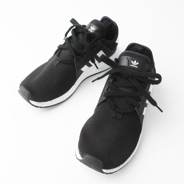 adidas アディダス EVM004001 メッシュ レースアップ スニーカー 25.5/ブラック メンズ 靴 くつ【2400020076975】