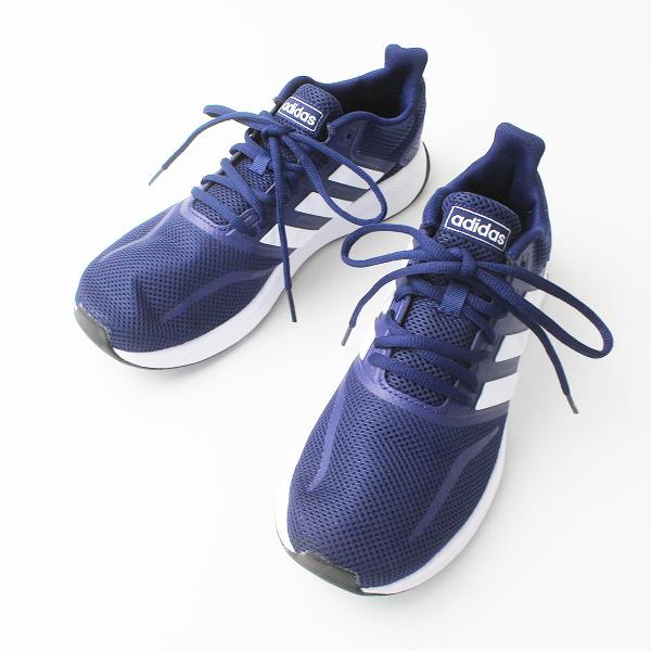 adidas アディダス PGS789005 メッシュ レースアップ スニーカー 25.0/ネイビー メンズ 靴 くつ【2400020076982】