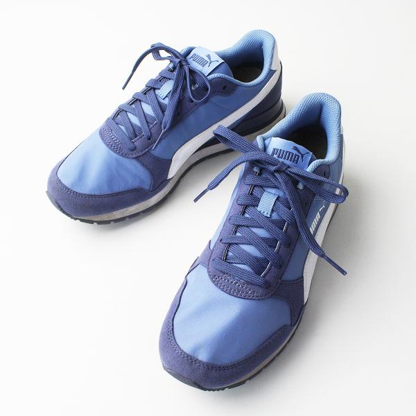 PUMA プーマ 36529303 レースアップ スニーカー 25/ブルー メンズ 靴 くつ【2400020077019】