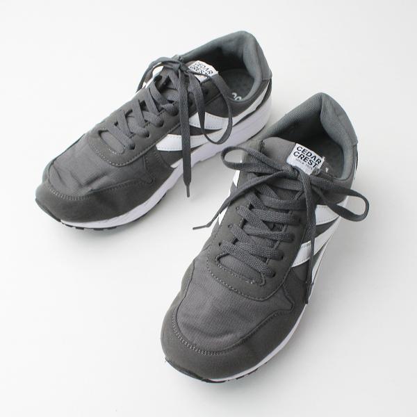 CEDAR CREST セダークレスト CC-9264 カジュアル スニーカー 26.5/チャコールグレー メンズ 靴 くつ【2400020077071】