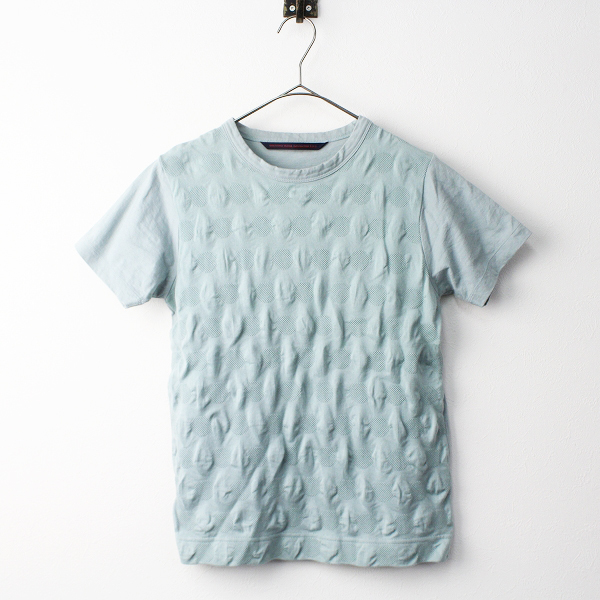 GRANDMA MAMA DAUGHTER グランマママドーター コットン 立体 ドット柄 Tシャツ 0/トップス ブルーグリーン【2400020078122】