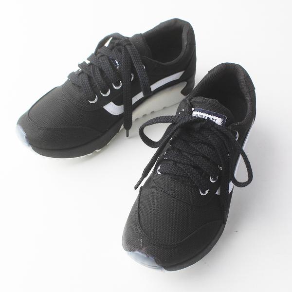 SIMO-TIME シモタイム レースアップシューズ 36/ブラック スニーカー 靴【2400020079617】