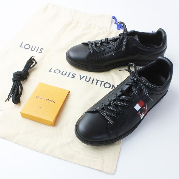 試着美品 2018 LOUIS VUITTON ルイヴィトン MS0128 ルクセンブルグ ライン スニーカー 8.5 / ブラック メンズ シューズ【2400020082969】