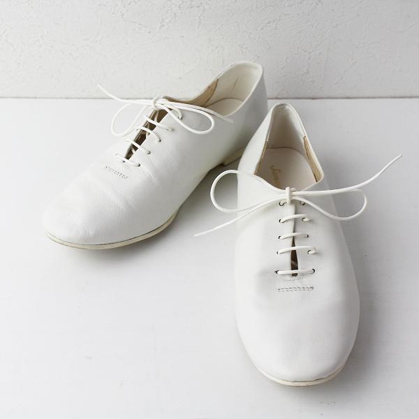 SM2 サマンサモスモス レザー レースアップ シューズ M/ホワイト 靴 フラット ナチュラル【2400020084581】