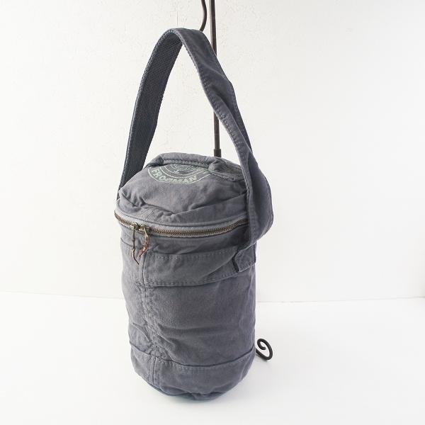 KAPITAL キャピタル キャンバス ワンショルダーバッグ/グレー系 肩掛け BAG バケツ型【2400020088619】