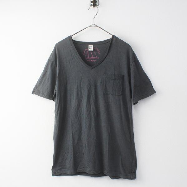 Design Tshirts Store graniph デザインティーシャツストアグラニフ コットン レーヨン リネン Vネック Tシャツ L【2400020089814】