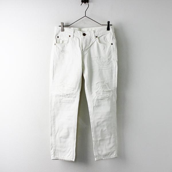 Lee リー ダメージ加工 テーパード パンツ M/ホワイト ボトムス ジップフライ【2400020090643】