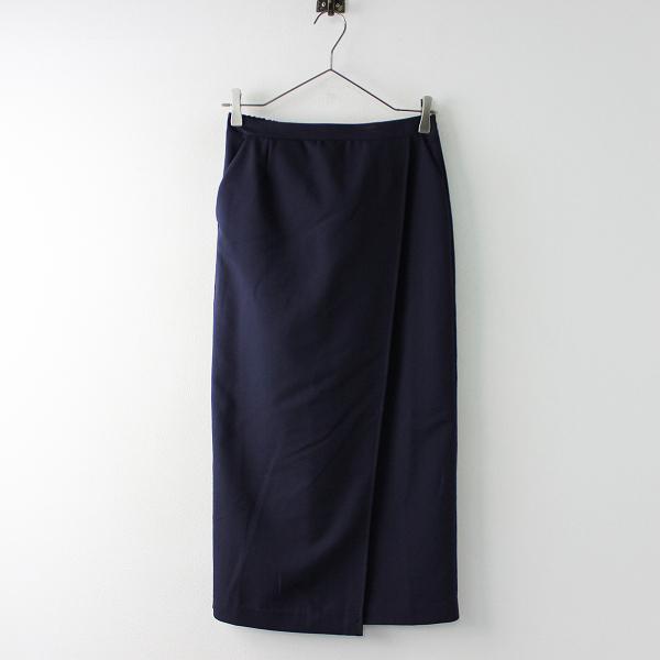 URBAN RESEARCH アーバンリサーチ ラップ風 イージー ロングスカート ONE/ネイビー ボトムス ウエストゴム【2400020090674】