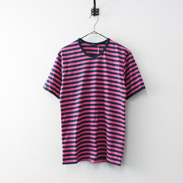 未使用 定価1.1万 marimekko マリメッコ Tasaraita Lyhythiha ボーダー Tシャツ S/グリーン ピンク【2400020098472】