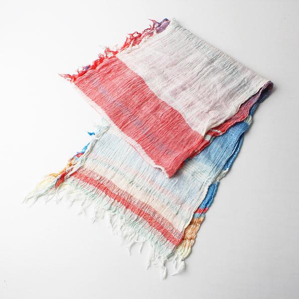玉木新雌 tamaki niime タマキニイメ roots shawl コットンルーツショール スモール/レッドブルーホワイト【2400020099967】