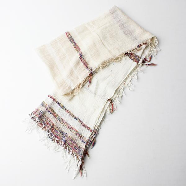 玉木新雌 tamaki niime タマキニイメ roots shawl コットンルーツショール スモール/キナリオフホワイト【2400020099981】