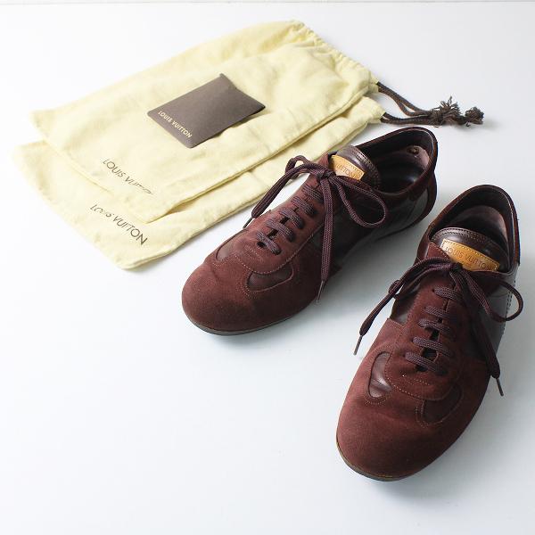 メンズ LOUIS VUITTON ルイヴィトン スエード レザー レースアップ シューズ 9 1/2 /エンジ系 靴【2400020102285】
